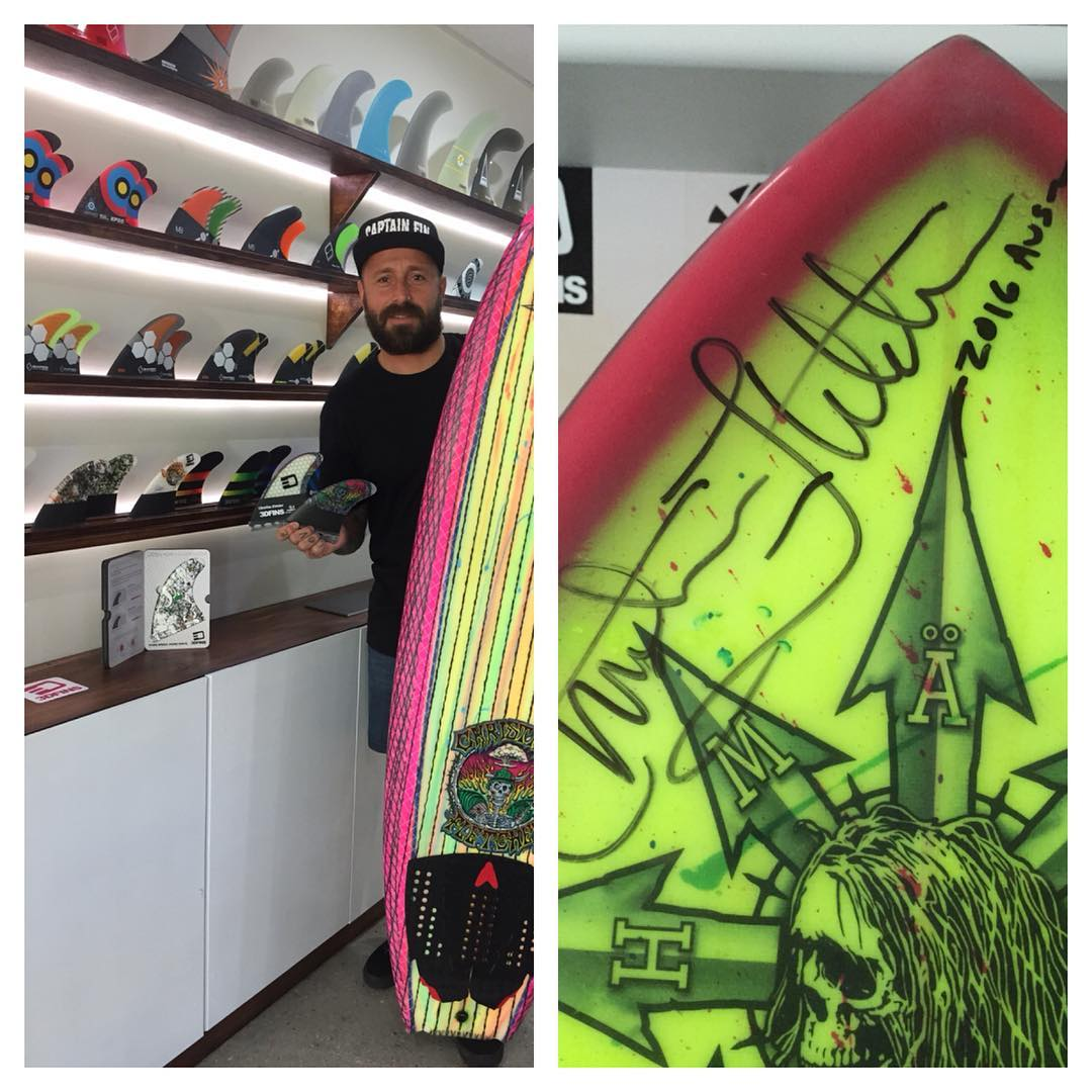 If you want checkout a piece of art go to the @Finhouse on Park ave Burleigh heads they have a the best collection of fins in town and a very rare original Christian Fletcher Mad house Customs creation. Shaped and sprayed by Christian and glassed by...