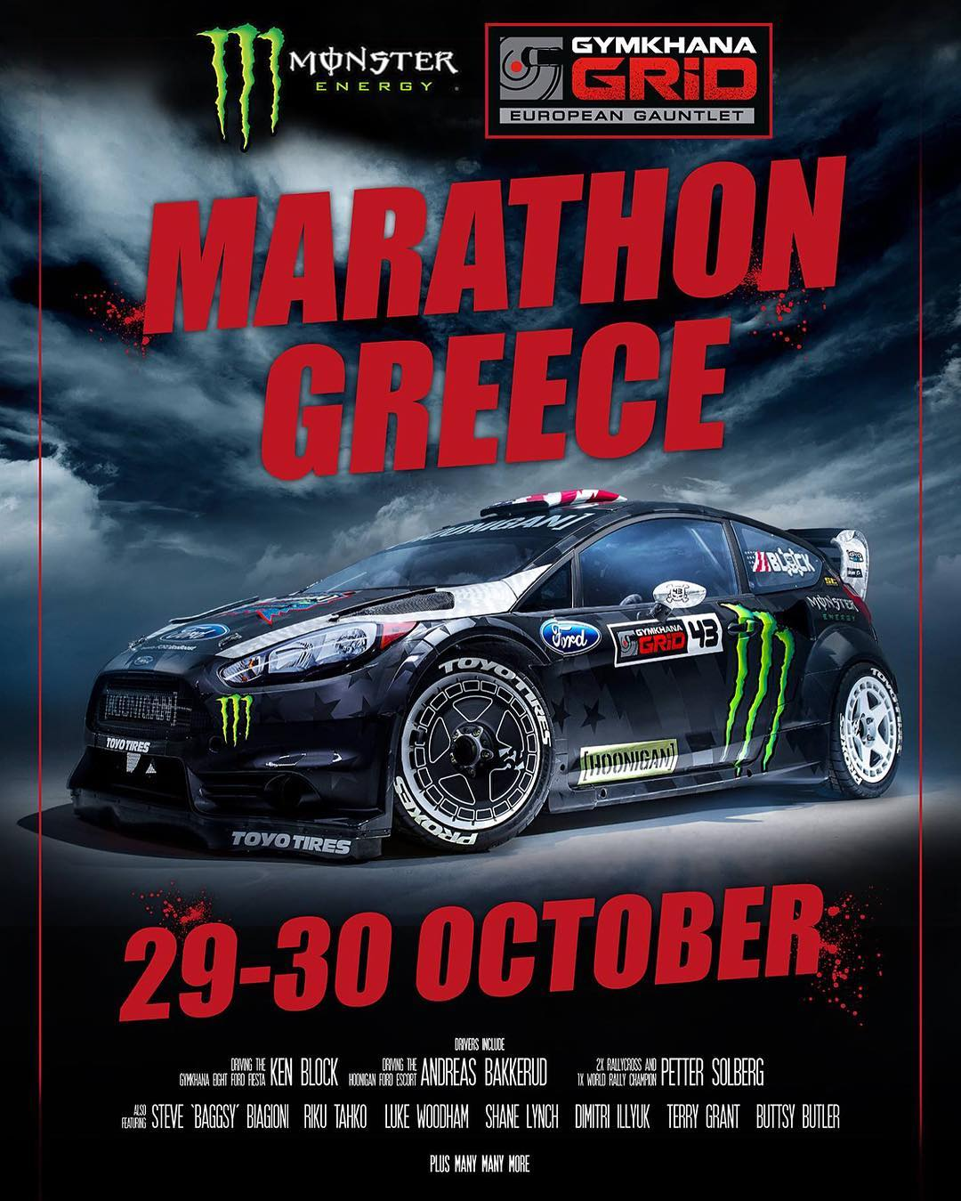 The @GymkhanaGrid European Gauntlet Final is upon us: it's all going down in Marathon, Greece!! And it's the best GRID driver lineup I've seen yet: my Hoonigan Racing teammate @AndreasBakkerud will be racing in the RWD class with the Gymkhana Escort,...