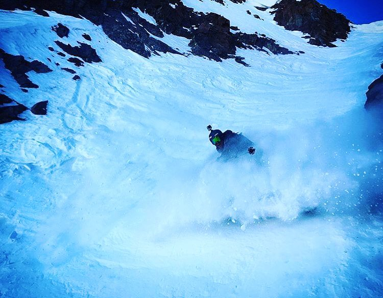 The @travisganong is still putting his 2015-16 Flylow Gear to the test in La Parva, Chile, when he is not on course. Skiing looks pretty good down there.  #winteriscoming #embracethestorm #defineyourroute #flylowgear