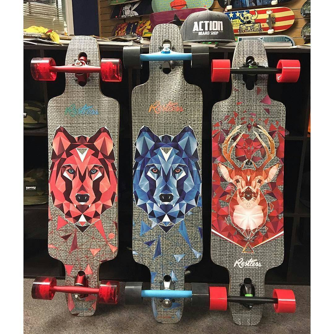 "@actionboardshop with them fresh #restlessSplinter♨️♨️♨️ ・・・ The Restless Splinter comes in 38"" and 40"" and is the perfect lightweight drop through cruiser board. Check them out at actionboardshop.com! #actionboardshop #restlesslongboards #splinter..."