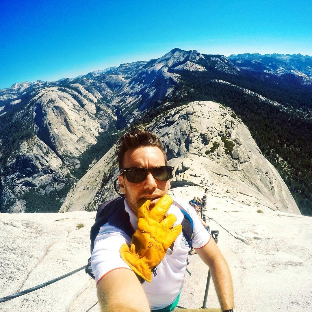 Summit your mountain. For Chris, it was #halfdome in #yosemite so rad!! #giverjh