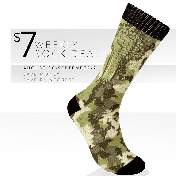 #StopTheChop in our #Camo Fist socks! Now available at a crazy low price #Cuipo #SaveRainforest #CuipoRoots #SockGame #FightDeforestation