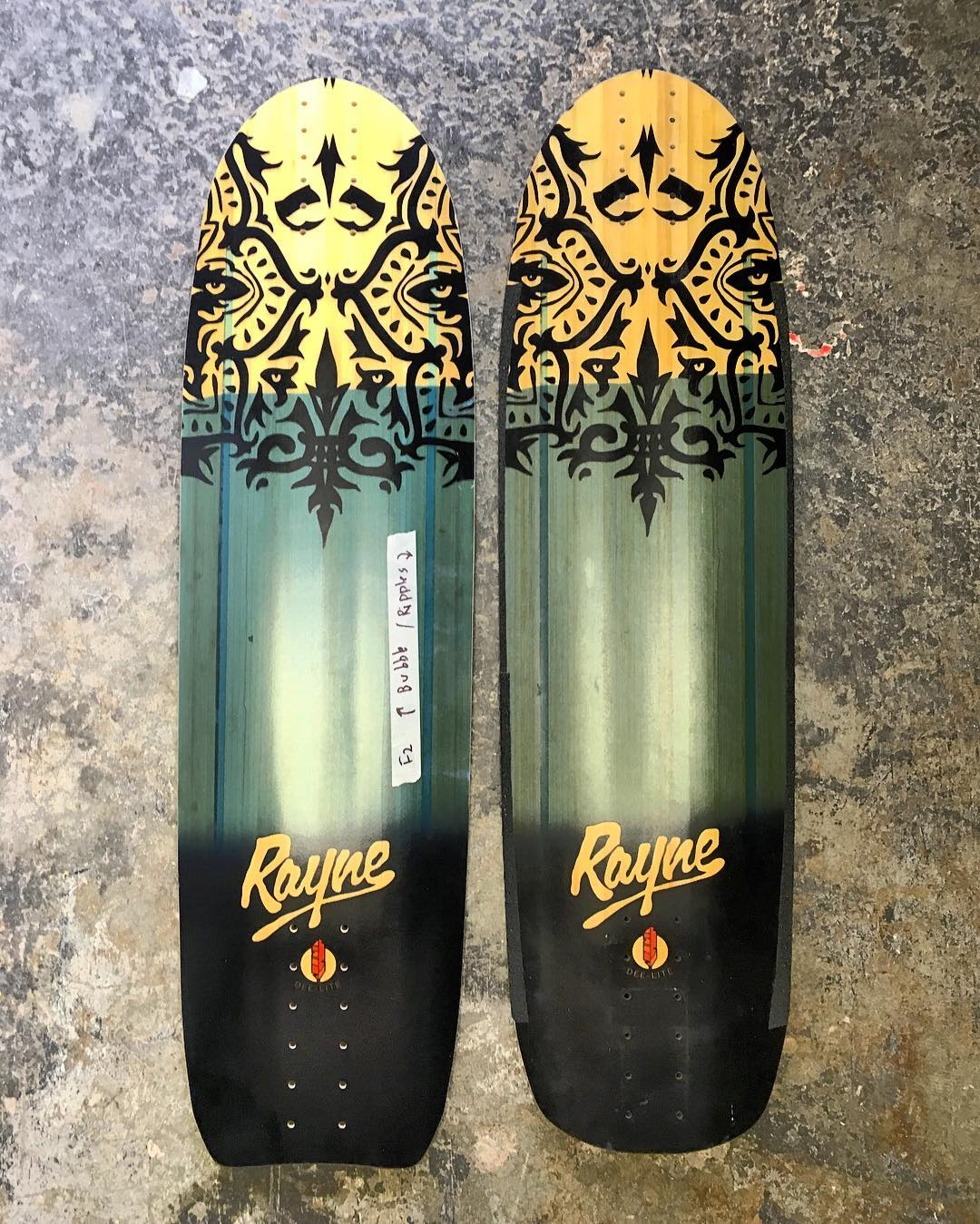 Team rider @steviedudemayne wanted to smooth things over a bit with his Genesis so he traced an Otherside tail and took it to the grinder. If you're in the Chop Shop mood show us what you got! #raynechopshop #raynelongboards #raynedeelite #raynegenesis...