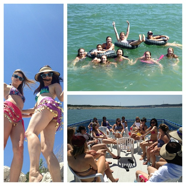 We're on a boat #compoundhoedown #funinthesun #lakelife #austin #texas #texmex #bacheloretteparty