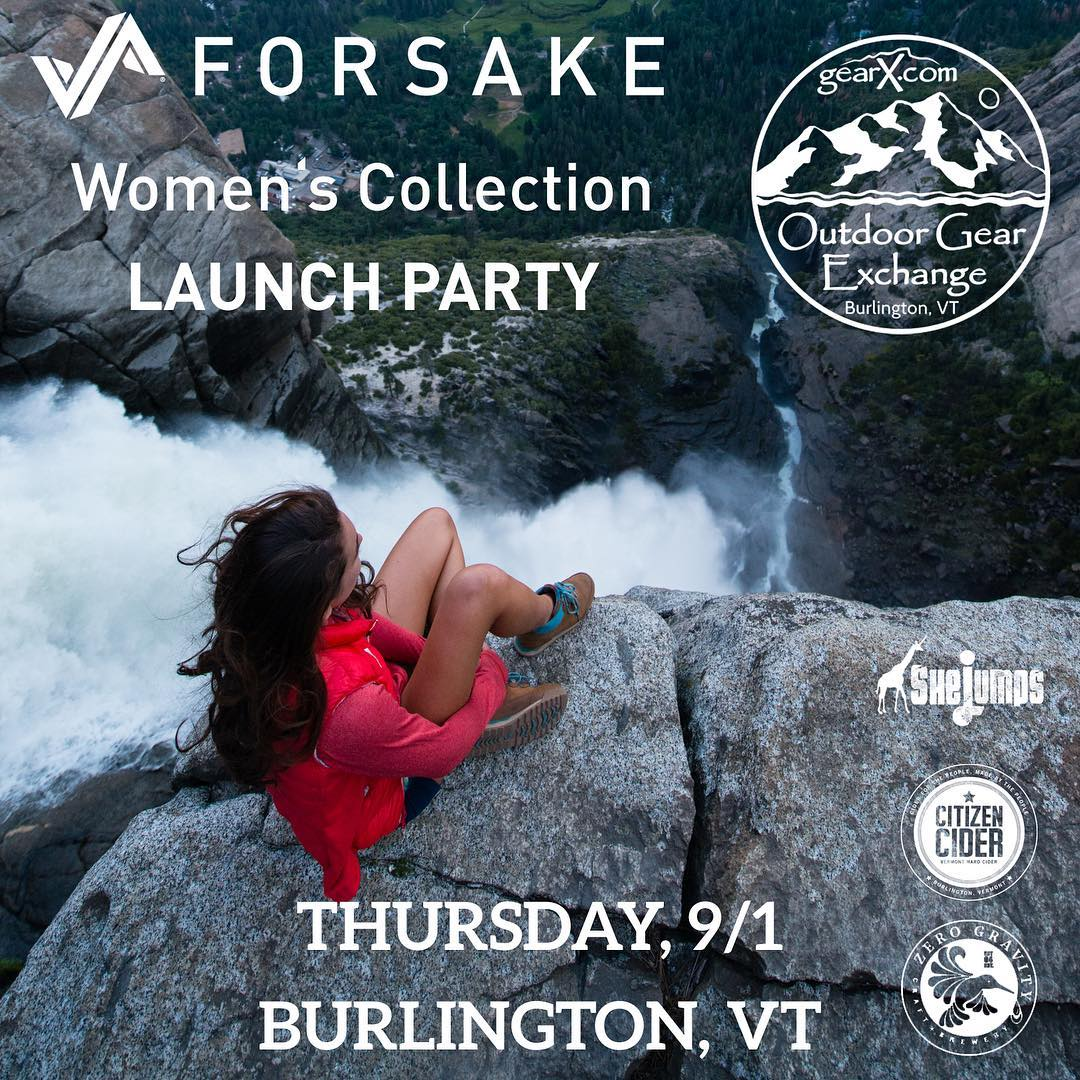 If you're around Vermont tomorrow evening and looking for some fun, come celebrate Forsake's Women's Collection!