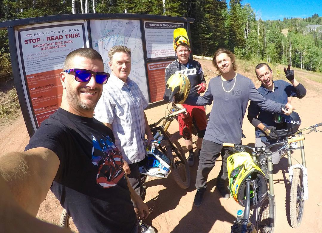 Yesterday was my last day of lift-assisted downhill mtn. biking for me this summer here in Park City (because the lifts close soon and I leave for a long race trip). Had a great session with these dudes: @rkade43, @Ken_Butch, @Jeremy___Jones, and...