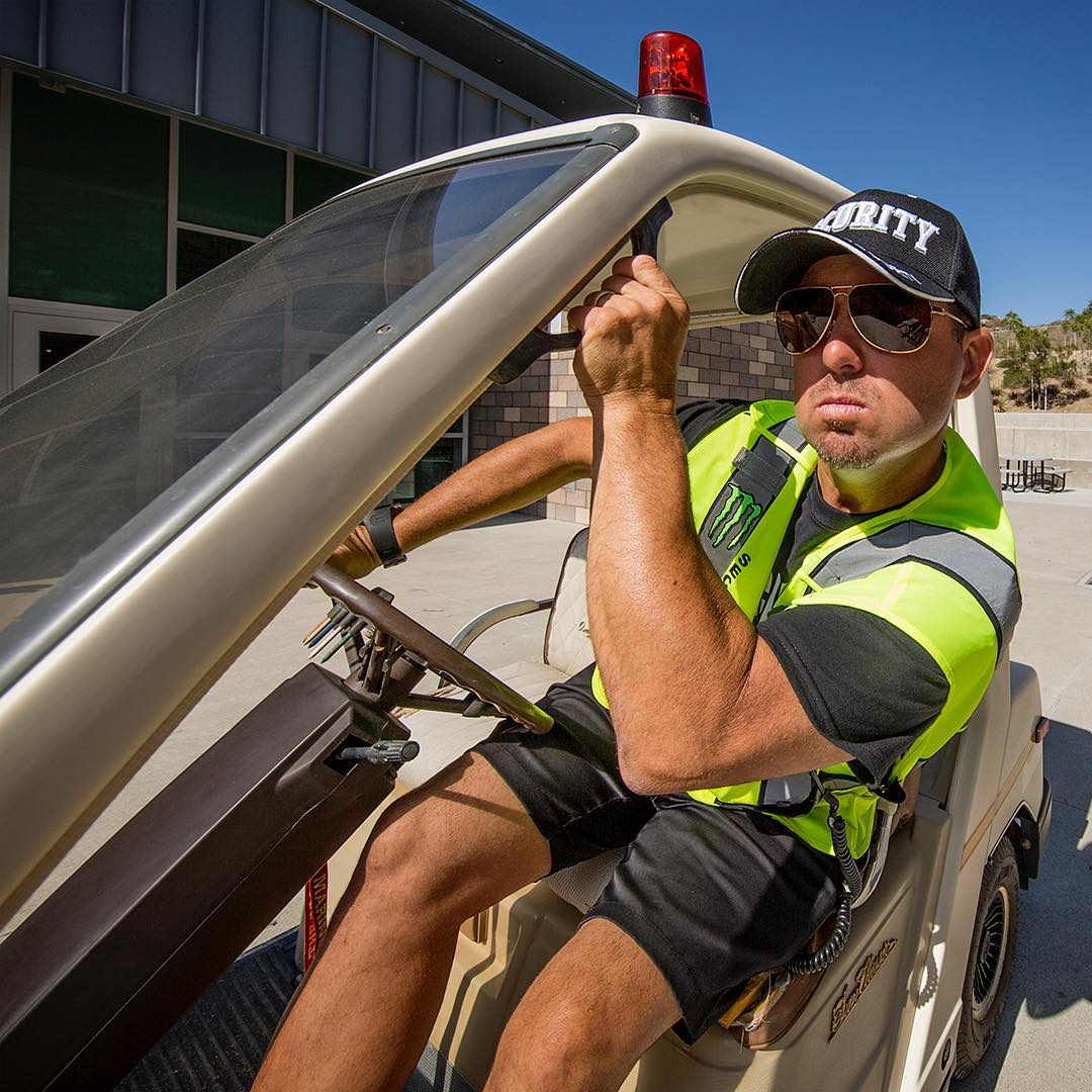 MX legend turned high school security guard? Find out tomorrow. @jeremymcgrath2 #JerseySeries #SEEHAPPY