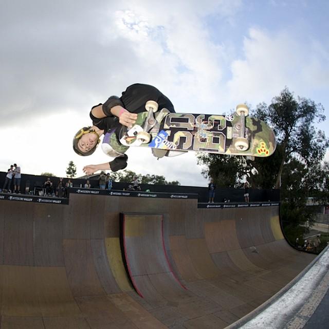 #ShredSaturday with Gaby Ponce (@gabyskates). Lofting at #Exposure2013. PC: @lrpalmos. #skate #skateboarding #skatelife #vert #skatevert #vertwillneverdie