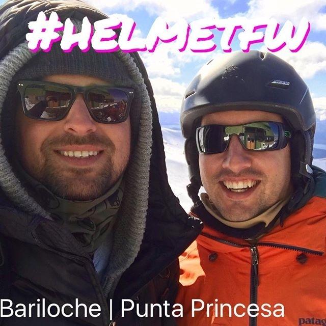 repost @mmpasquali @helmet_fw #helmetfw #bariloche #trabajoyamistad #trabajoydeporte #trabajoyplacer ❄️❄️❄️⛷