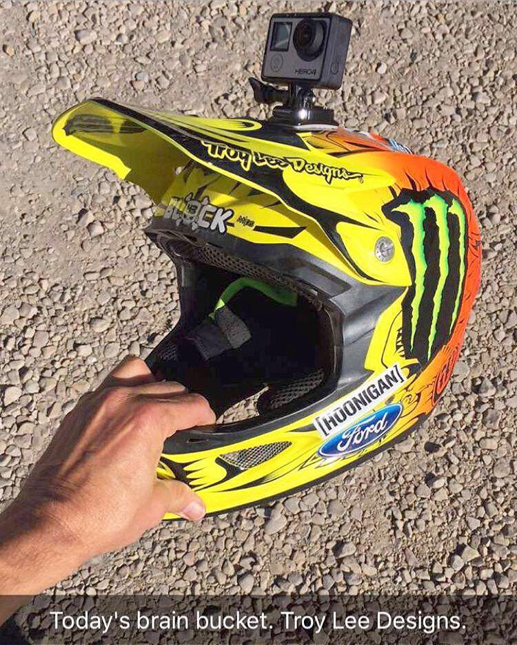 Downhill mtn. biking brain bucket + compact video capturing device. I like. #brainbucket #TroyLeeDesigns #GoPro #Hero4