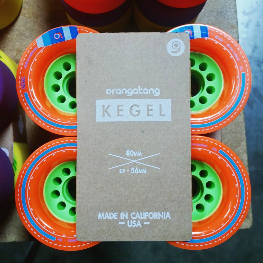 We're expanding our packaging for our wheels!  Started with the Onsens, then the Skiffs, and now we are bringing our 100% recyclable glueless packaging to our whole line up!  Big news? Yes, especially if you are planet Earth.  #Orangatang #Orange...