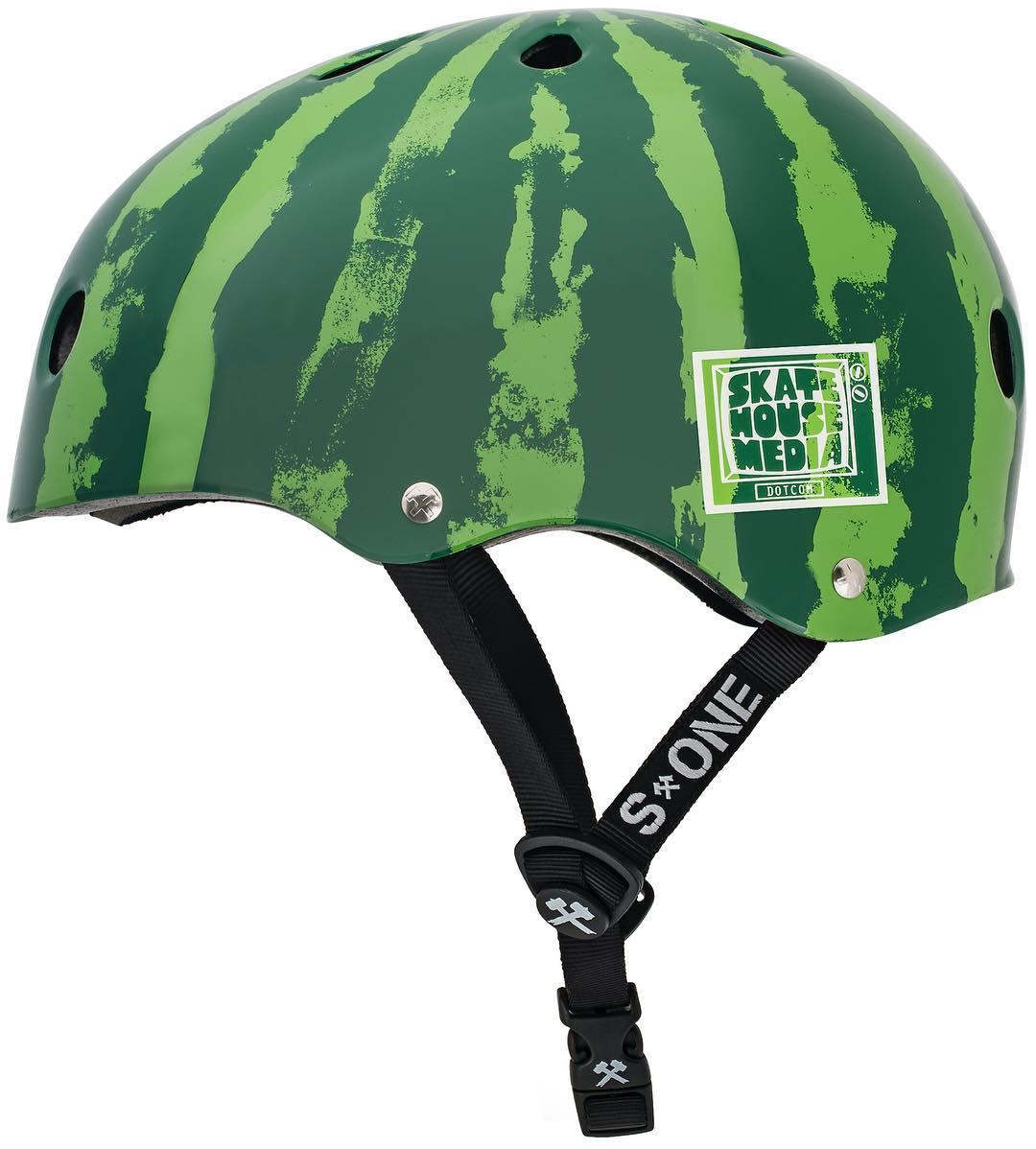 S1 X @skatehousemedia helmets in stock - #watermelonhelmet