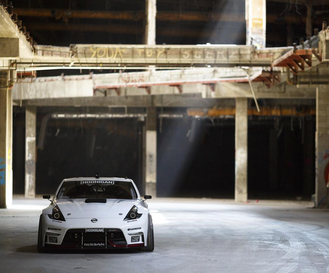 Looking back at @chrisforsberg64's 1000hp 370 comp car dressed up in white... feelin it! #hoonigan #370z