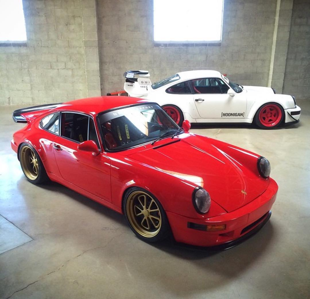 If you had to pick one:  The turbo and wide booty #RWBxHOONIGAN or the ultra-light-weight and naturally aspirated #projectnasty? #aircooled #911