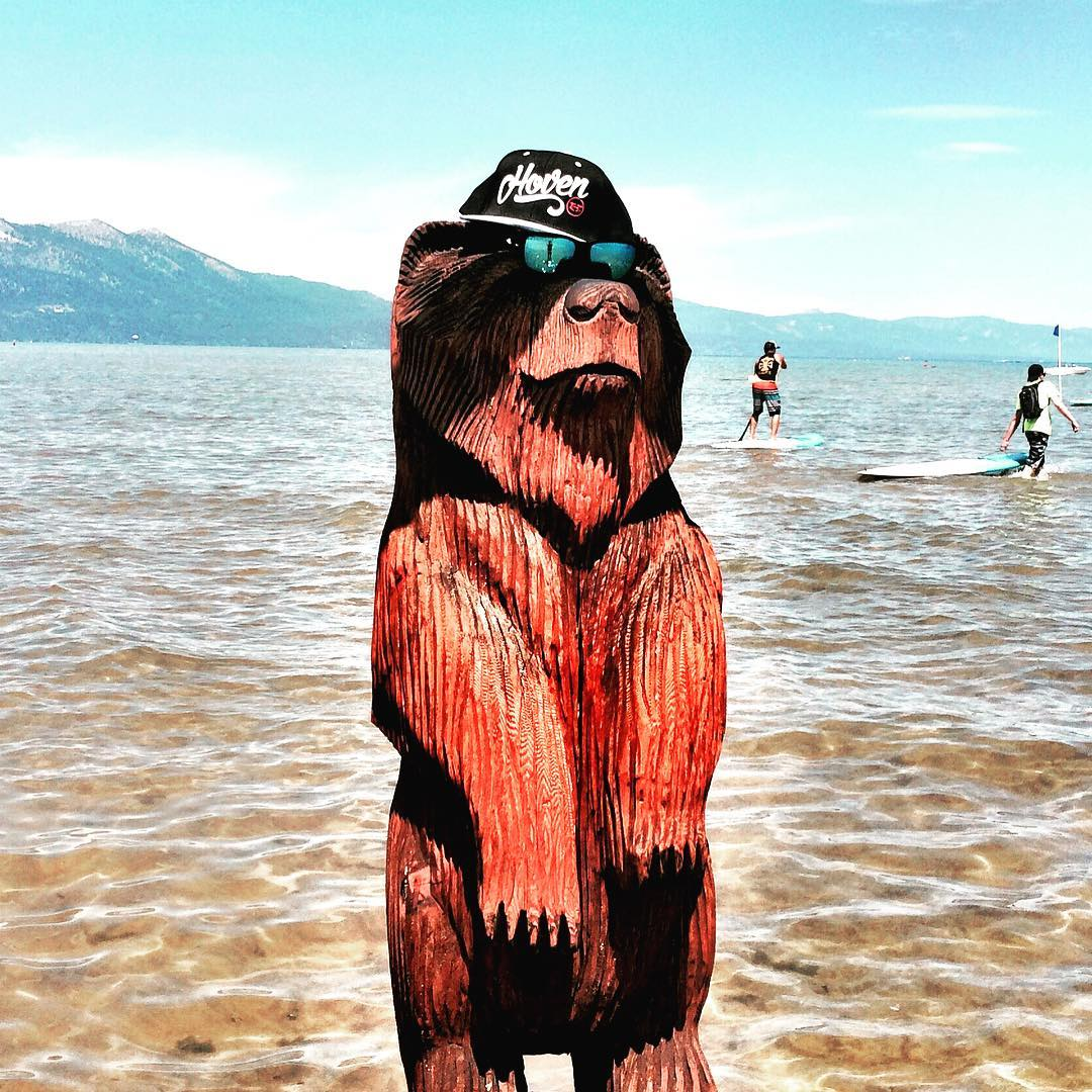 Bear by day, Beast by night #whatsyourvision #hovenvision #alwayssunblocking #neverfunblocking #california #laketahoe #bearcoast #SUP #leftcoast #bestcoast