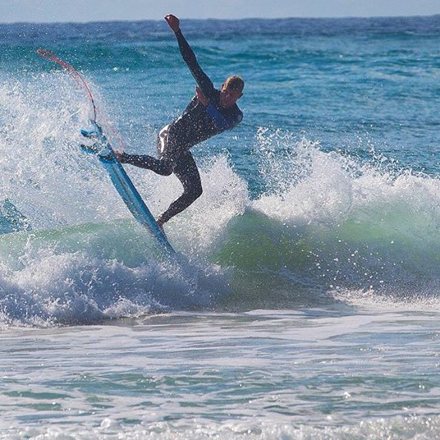 @mfanno at home keeping things razor sharp before the #HurleyPro at #Lowers