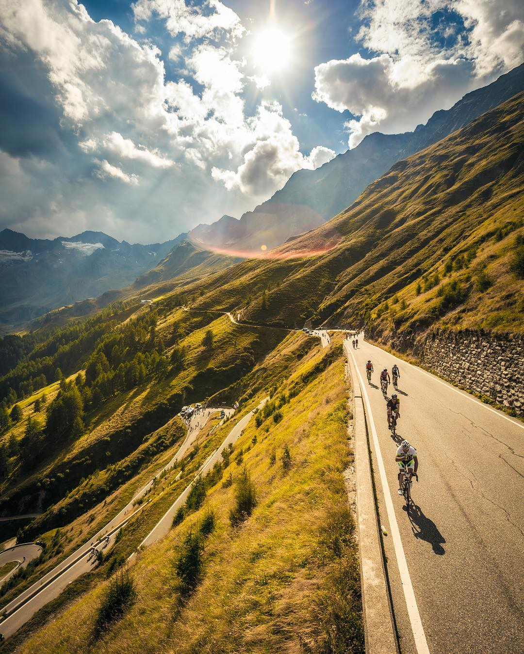 Ötztaler Radmarathon is a 238km long cycling tour in the Alps.