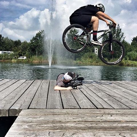 "Hop master! @tomaslemoine out at #Eurobike with the @canyon_bikes crew shooting for a new ""how to"" vid segment. #SixSixOne #661Protection #ProtectFun"