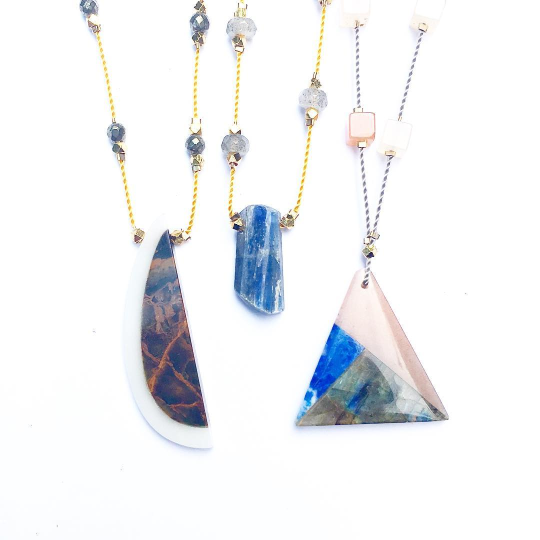 Projects for Proof Lab! Visit @prooflabstation for a variety of one of a kind Gemstone Stars Necklaces.  Located off of Highway 1 when you're headed out towards the coast! Hit up @equatorcoffees next door to stay awake on the windy roads!  #highway1...