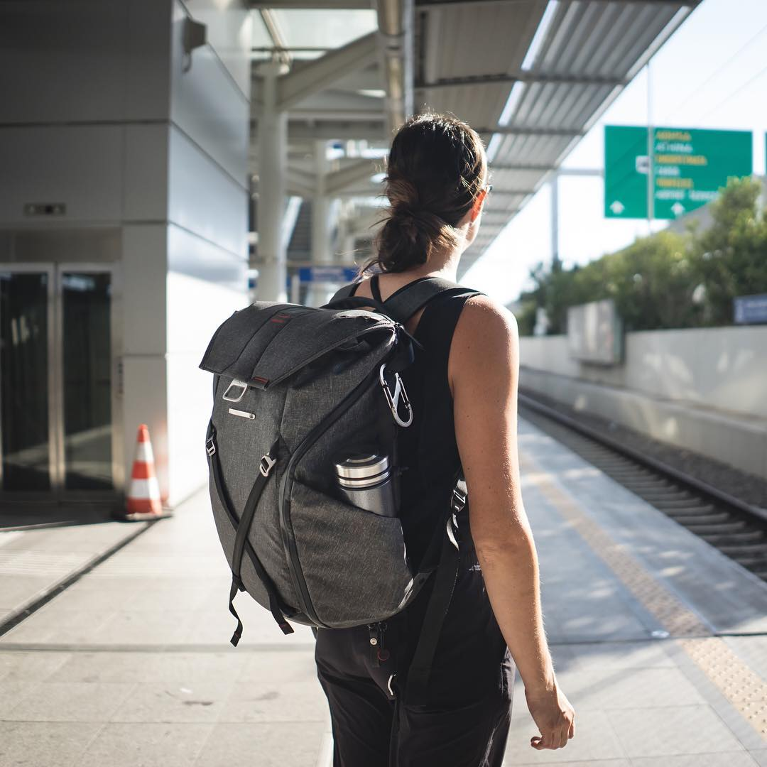 Everyday Backpack 30L getting the commute test. It passed. #findyourpeak #pdkickstarter16