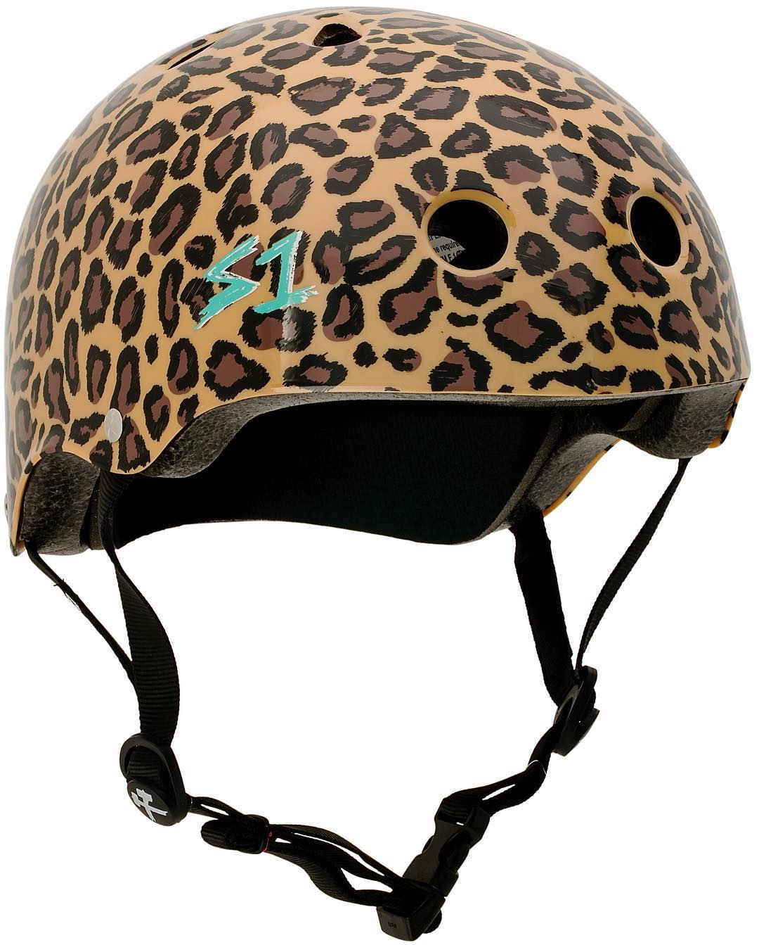S1 & @moxirollerskates & @estrojen teamed up to create this leopard print Lifer helmet . Get one at @moxiskateshop today ! #s1liferhelmet #s1helmets #liferhelmet