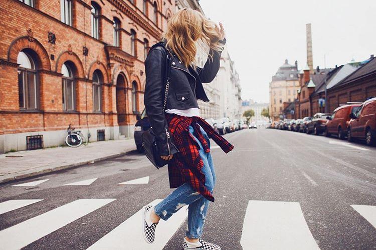 Street style. #SlipOn
