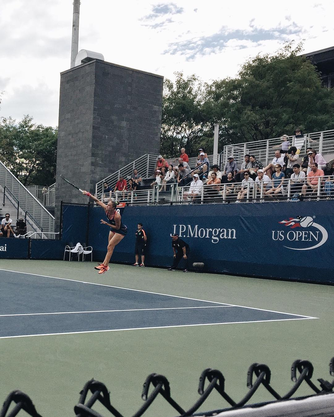 The power is real. Yesterday's match with #KaterynaBondarenko was one for the books. #usopen #TeamHICKIES #lifewithoutlaces