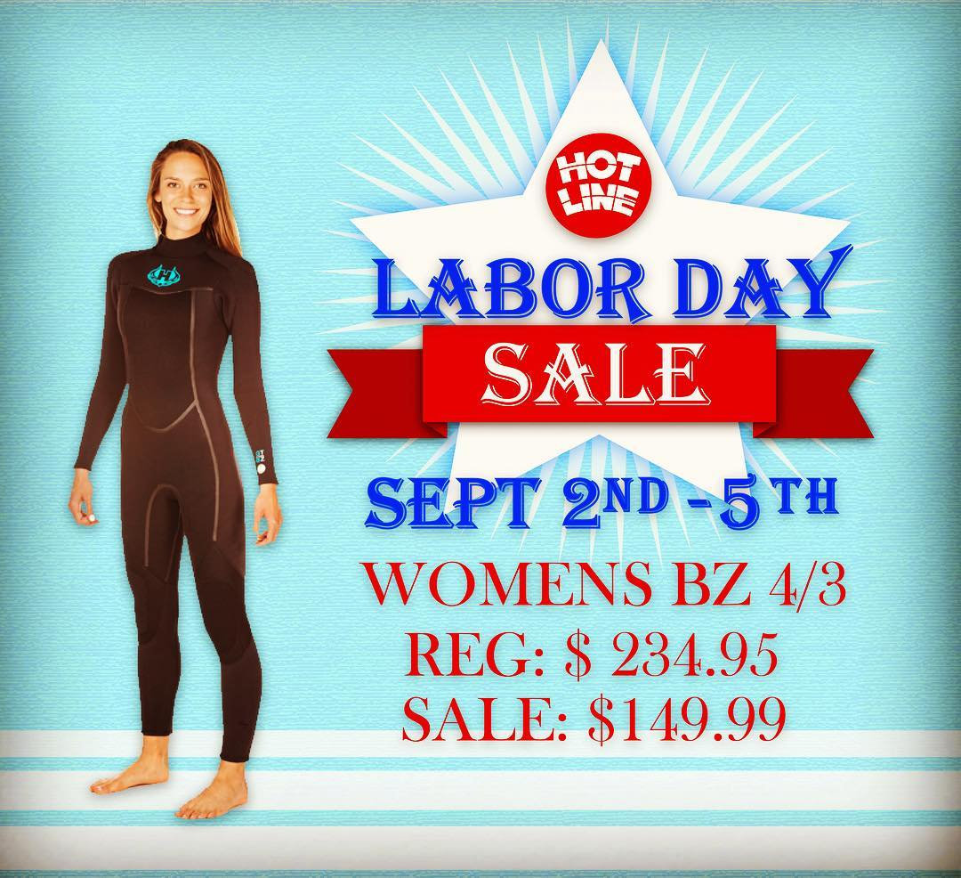 Labor Day Sale!!! Women's BZ 4/3 Reg: $234.95 Sale: $149.99  #laborday #sale #surf #surflife