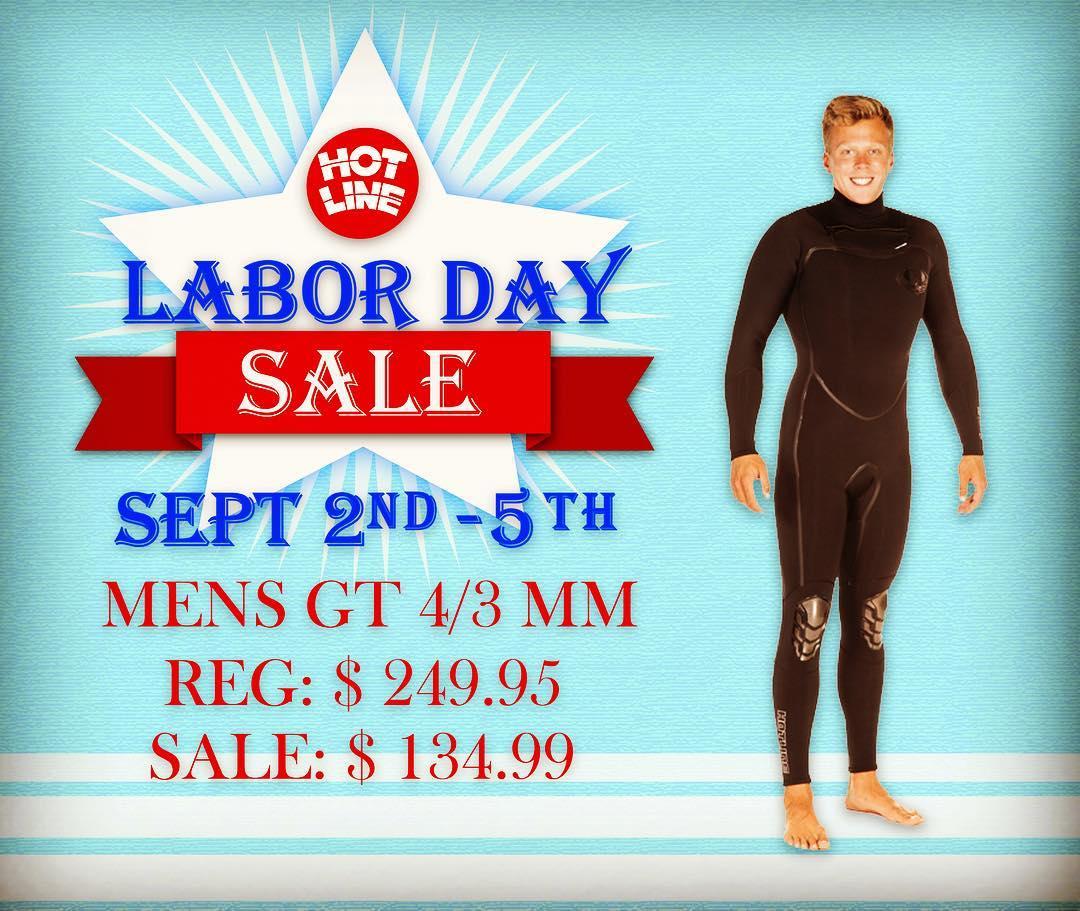 Labor Day Sale!!! Men's GT 4/3 Reg: $249.95 Sale: $134.99  #laborday #sale #surf #surflife
