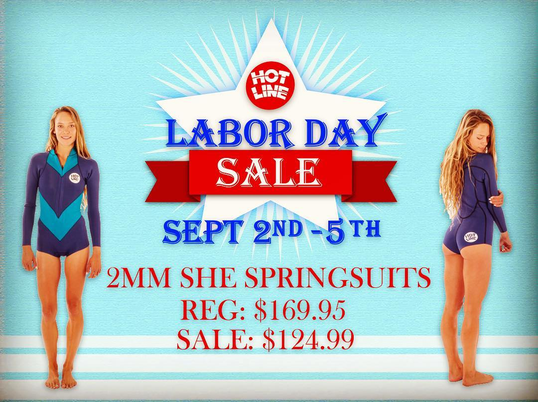 Labor Day Sale!!! 2mm She.Suits  Reg: $169.95 Sale: $124.99  #laborday #sale #surf #surflife