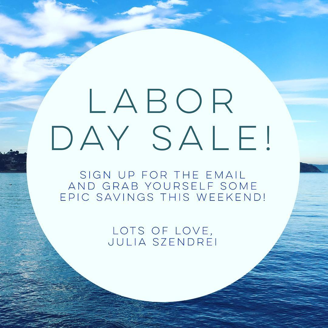 Be sure to enjoy the perks of the email list this Holiday weekend!  We'll have one more email with this weekend's coupon code going out this afternoon. Perfect for your log ride to paradise this weekend!  #laborday #sale #labordayweekend...