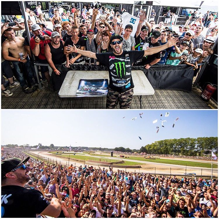 Another #TBT from my second ever @FIAWorldRX race - in Lohéac, France. The crowd was one of the biggest I've ever seen at a rallycross race up to that point. So rad to see so many passionate rallycross fans in one place! Looking forward to another wild...