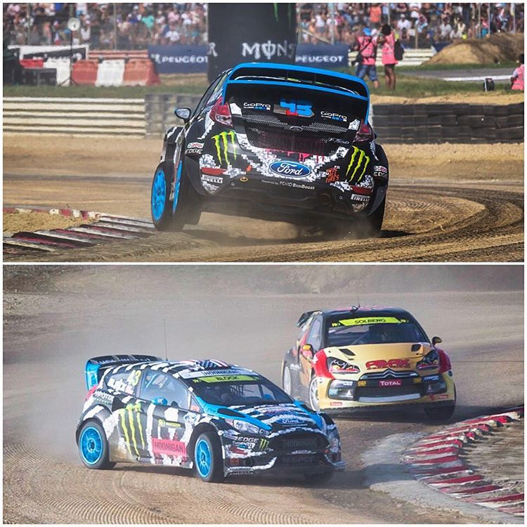 #TBT: couple of action shots from Lohéac, France in 2014 - my second ever @FIAWorldRX race, where I finished 4th overall and set the overall track record. Damn that was a good time! This track really suits my driving style, so I am stoked to be racing...