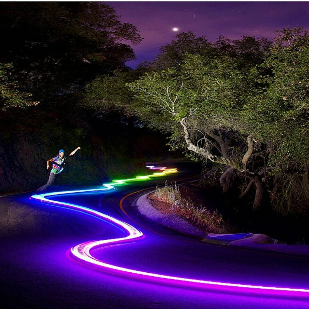 #TBT to @adamstokowski following light trails left by a neon leprechaun.  Neon Leprechauns are native to the hills of California. Ancient legends say that they were the innovators of rave wear and helped found Coachella.  Remnants of their mysterious...