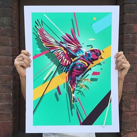 New print for @powwowworcester exclusive Pop-Up Shop! • If you're at the festival, check out @NineDotGallery • 763 Main Street Worcester, MA 01610 774.253.3433 • Repost from: @arlin_graff • SprATX is proud to sponsor along side: @powwowworldwide @1xrun...