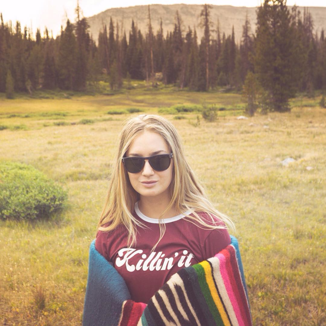 @sierra killing it in the #marquis sunglasses out in the mountains.