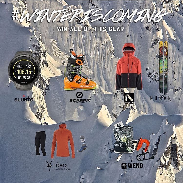 Win $3k of gear for doing relatively nothing!!! Winter is coming and we want to get you dialed for the season. We've joined forces with all of these great brands to get you an almost complete backcountry setup to give away. All you have to do is enter...