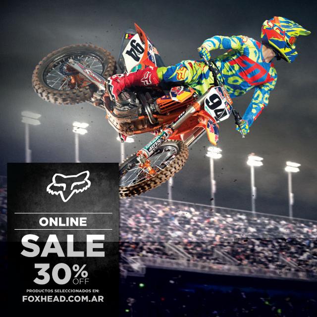 Sale en Fox Head Argentina!  30% OFF en productos seleccionados comprando on line en www.foxhead.com.ar. Encontrá todos los productos de esta promo en la pestaña de SALE.  Comprá Fox Head siempre original y con garantía, no te pierdas esta...
