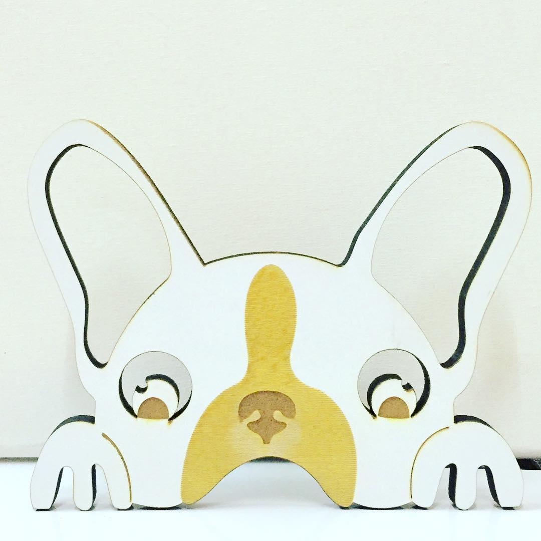 #Chilimango #deco #decoracion #decoration #dog #bulldogfrances #surf #perro #love #style bulldog en acrílico combinado...