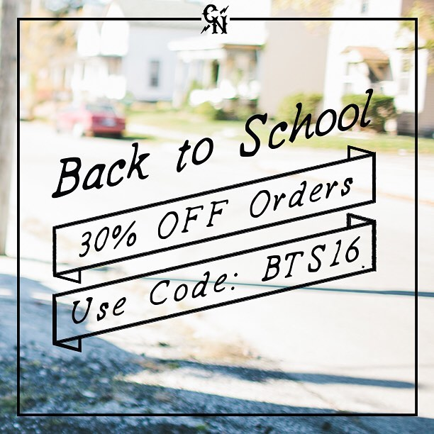 We have extended our Back to School SALE until LABOR DAY! Head over to concretenative.com and use promo code BTS16 to receive 30% off your entire purchase! Get everything you need before school starts again. #backtoschool #promo #backpacks...