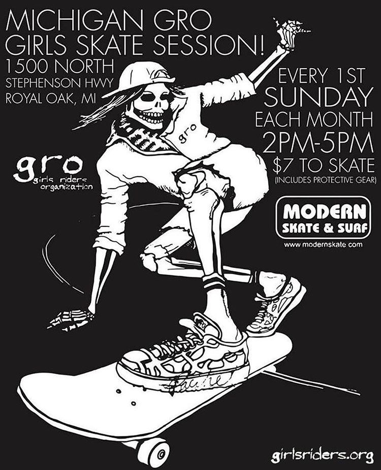 Come shred with the @michigangrocrew this Sunday @modernskate ⚡️⚡️#ridetrue #youcanshredwithus #youcangrowithus