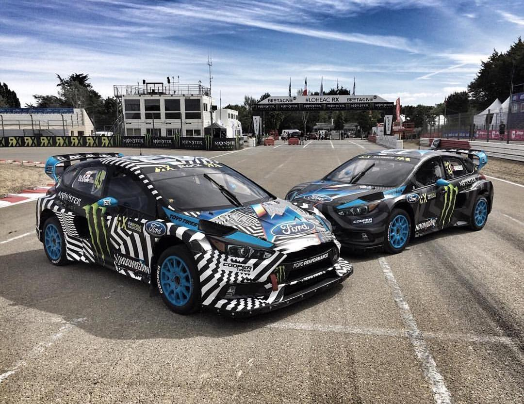 The @hooniganracing squad hard parked at #LoheacRX! Photo cred: @jimmydrama1 #focusrs #worldrx