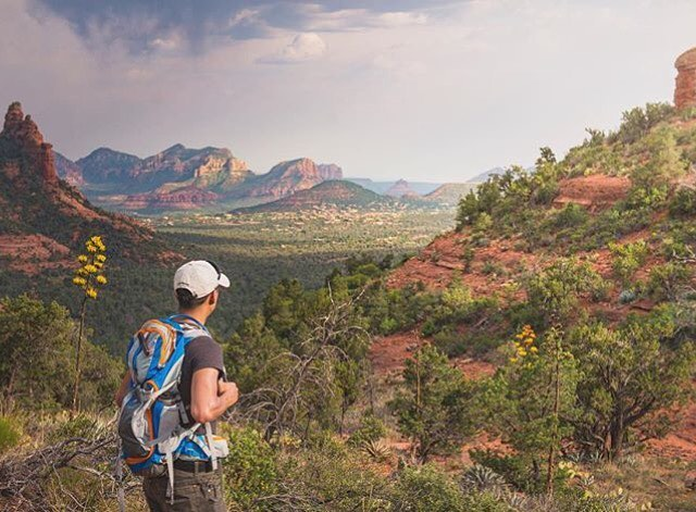 "Here's a cool one of @matthewkou in the Sedona. Is it ""The Sedona"" or is it just, ""Sedona""? I can never remember. #Sedona #Arizona #MHMgear #PacksElevated"