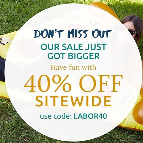 Don't miss out! The 40% off sale is almost over! #labor40 #labordaysale