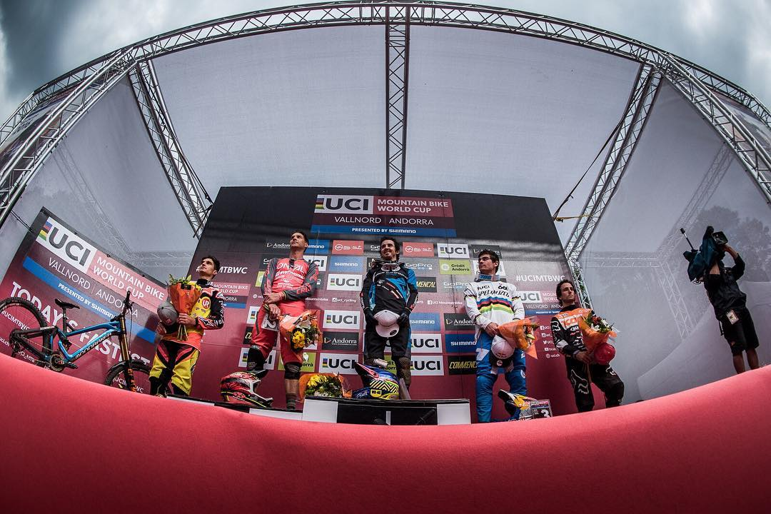 Podium Pie for @teamspecializedgravity today in Andorra! 3rd for Loic, 2nd for Finn and 25th for Loris rounding off an exciting days racing! Full photo report to follow. Photo @davetrumporephoto #SixSixOne #661Protection #ProtectFun
