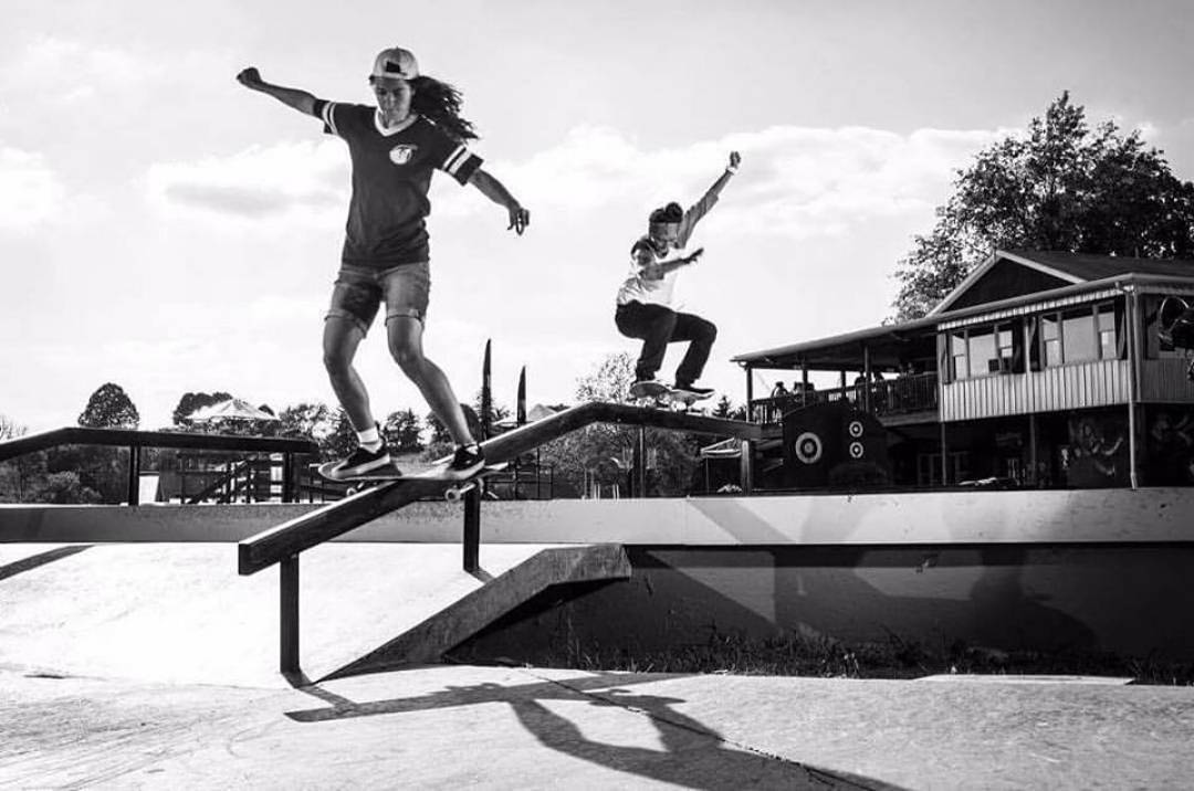Annie Guglia and Mariah Duran of @meowskateboards on doubles! Check out the link in the bio of @newenglandsfemaleskateboarding to see footage of these two along with Cara Weaver, Maya Volpacchio, Jordan Serpentini, Clare Kelly, Erica Mazzarese,...