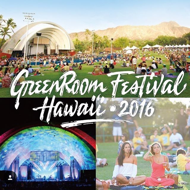 Pretty stoked for @greenroomfestivalhawaii --- it's full of things we like #surfart #music #dranks --- get your tix for next Saturday!