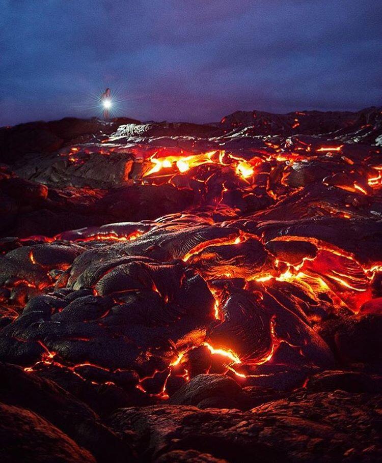 Hot steppin' through @hawaiivolcanoesnps with @chelseakauai and @travisburkephotography