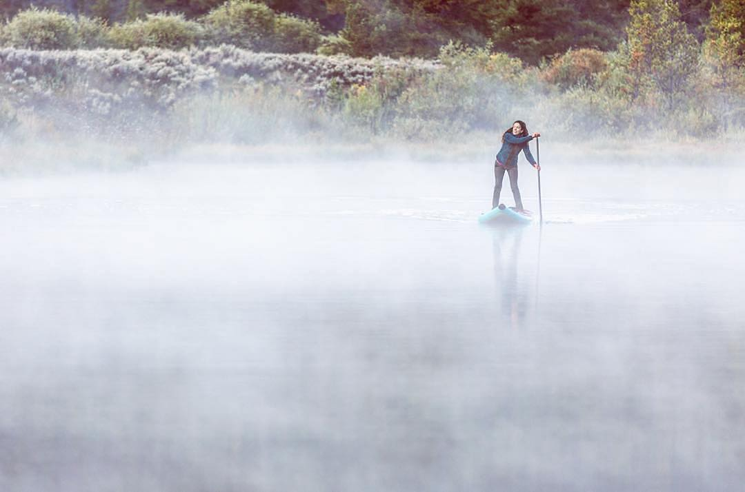 Misty morning paddle.