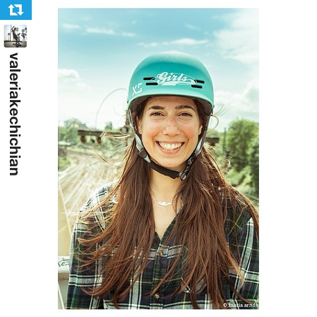 #Repost from @valeriakechichian @longboardgirlscrew's Co-Founder, Managing Director and all-round stoke spreader. She loves our helmet and we